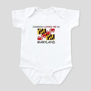 Maryland gifts cafepress somebody loves me in maryland infant bodysuit negle Choice Image