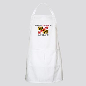 Somebody Loves Me In MARYLAND BBQ Apron