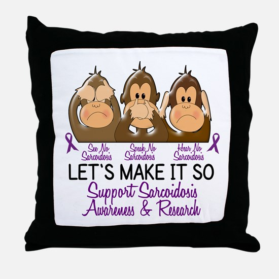 See Speak Hear No Sarcoidosis 2 Throw Pillow