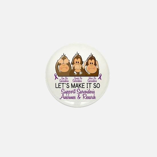 See Speak Hear No Sarcoidosis 2 Mini Button