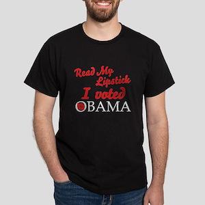 Read My Lipstick - Obama Dark T-Shirt