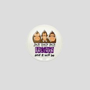 See Speak Hear No Sarcoidosis 3 Mini Button