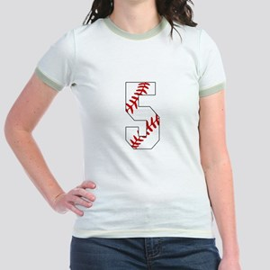Number 5 Baseball Laces 5th Birthday T Shirt