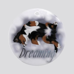 Dreamin Pup Ornament (Round)