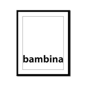 BAMBINA Framed Panel Print