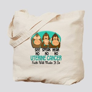 See Speak Hear No Uterine Cancer 1 Tote Bag