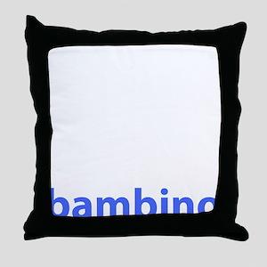 BAMBINO BABY BLUE Throw Pillow