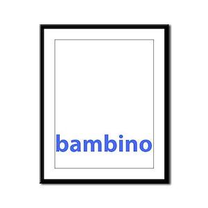 BAMBINO BABY BLUE Framed Panel Print