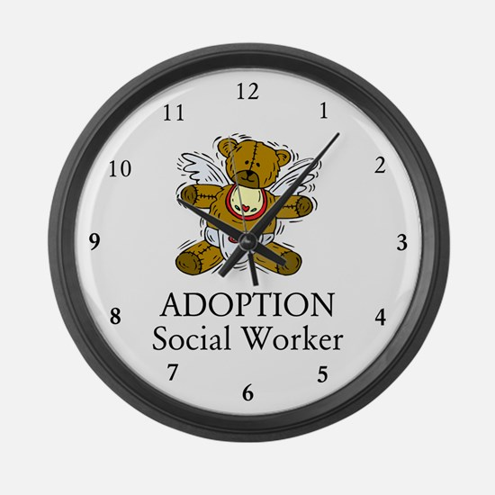 Adoption SW Bear Large Wall Clock