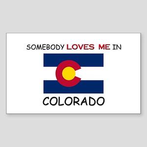 Somebody Loves Me In COLORADO Rectangle Sticker