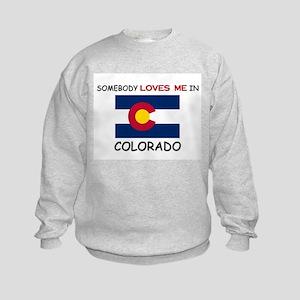 Somebody Loves Me In COLORADO Kids Sweatshirt