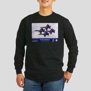 Blue Angel's F-18 Hornet Long Sleeve Dark T-Shirt