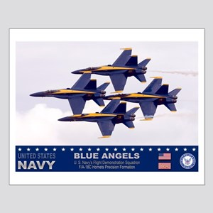 Blue Angel's F-18 Hornet Small Poster