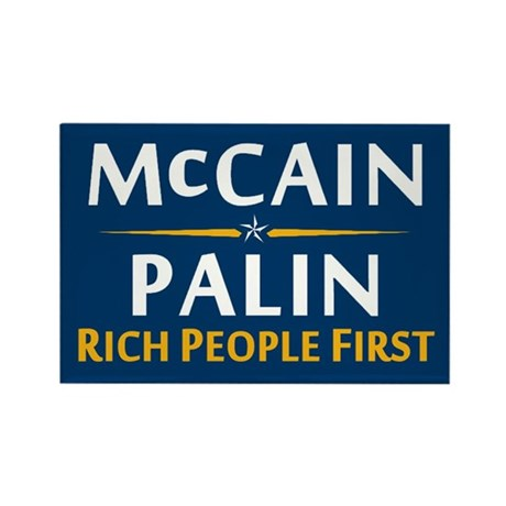 Rich People First Rectangle Magnet (10 pack)
