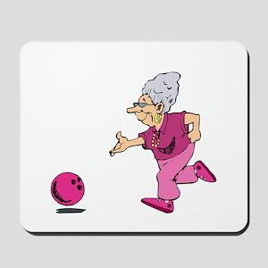 Bowling granny Mousepad