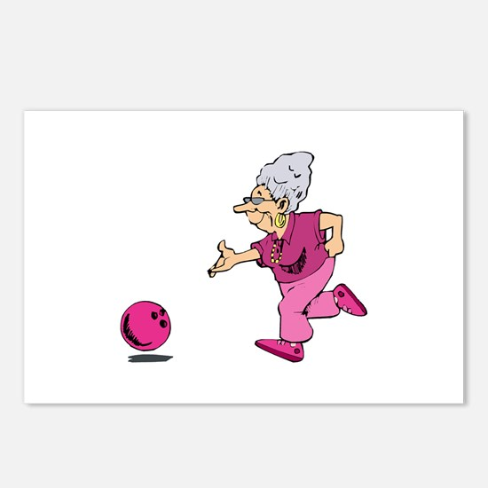 Bowling granny Postcards (Package of 8)