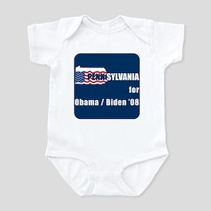 Pennsylvania for Obama Infant Bodysuit