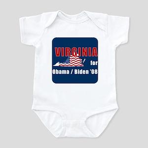 Virginia for Obama Infant Bodysuit