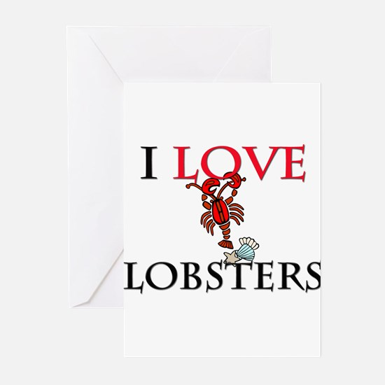 I Love Lobsters Greeting Cards (Pk of 10)