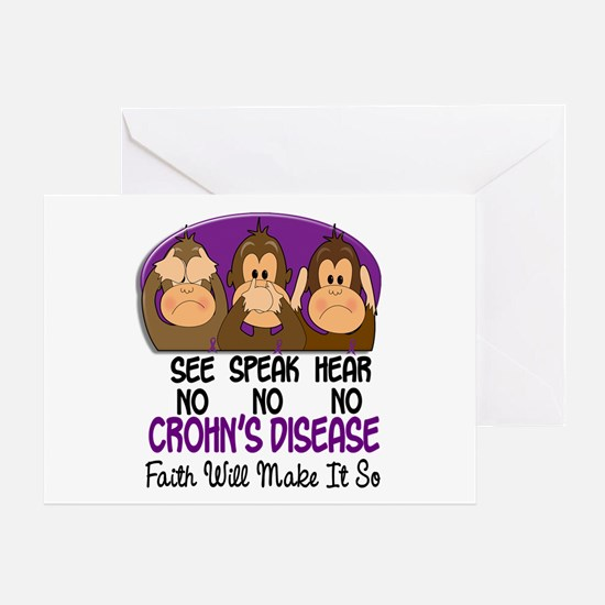 See Speak Hear No Crohn's Disease 1 Greeting Card