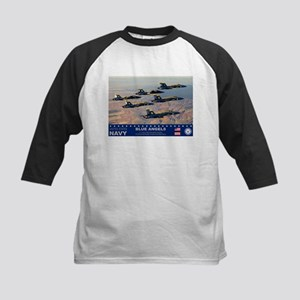 Blue Angel's F-18 Hornet Kids Baseball Jersey