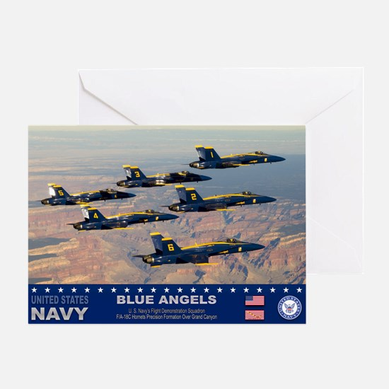 Blue Angel's F-18 Hornet Greeting Card
