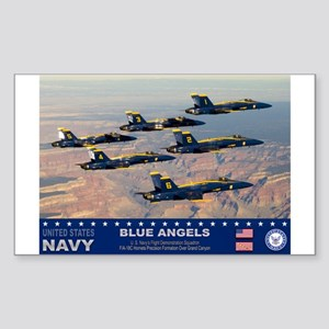 Blue Angel's F-18 Hornet Rectangle Sticker