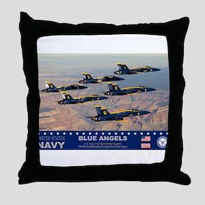 Blue Angel's F-18 Hornet Throw Pillow