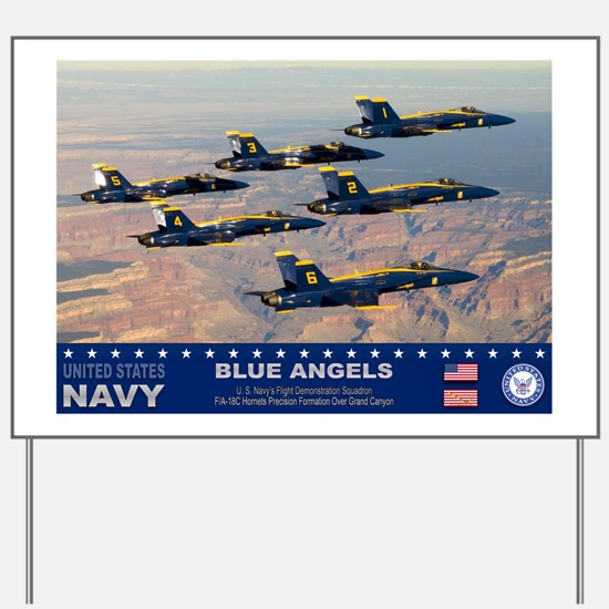 Blue Angel's F-18 Hornet Yard Sign