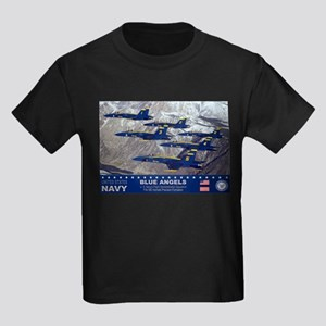 Blue Angel's F-18 Hornet Kids Dark T-Shirt