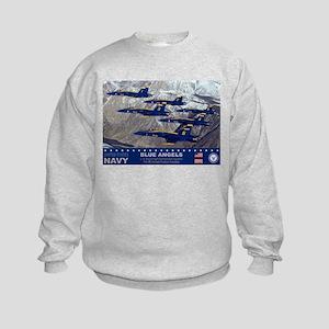Blue Angel's F-18 Hornet Kids Sweatshirt