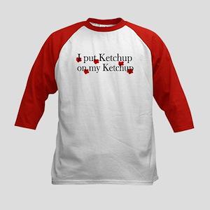 Ketchup on Ketchup Kids Baseball Jersey