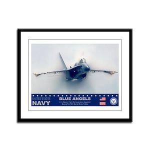 Blue Angel's F-18 Hornet Framed Panel Print