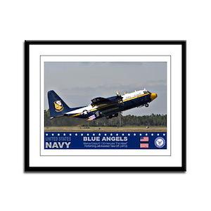 Blue Angel's C-103 Hercules Framed Panel Print