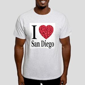 I Love San Diego Ash Grey T-Shirt