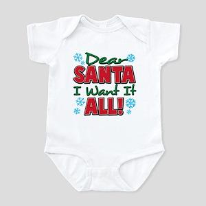 Dear santa I want it all Infant Bodysuit