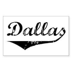 Dallas Rectangle Decal