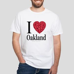 I Love Oakland White T-Shirt