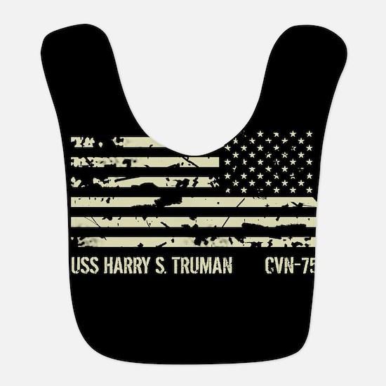 USS Harry S. Truman Polyester Baby Bib