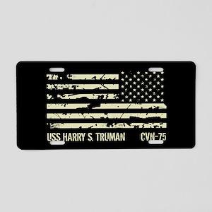 USS Harry S. Truman Aluminum License Plate