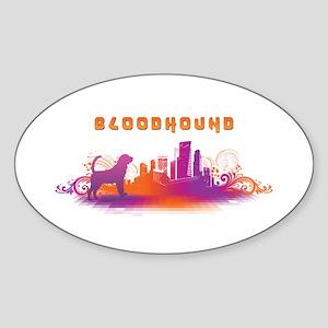 """City"" Bloodhound Oval Sticker"