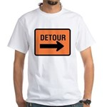Detour Sign White T-Shirt