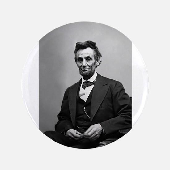 "Abraham Lincoln Button - 3.5"" Super Large Siz"