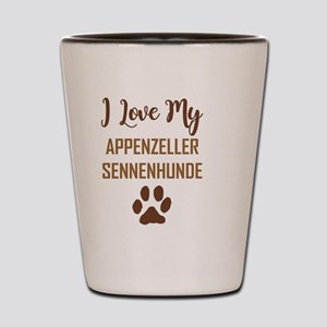 I LOVE MY DOG Shot Glass