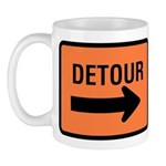 Detour Sign - Mug