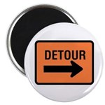 "Detour Sign - 2.25"" Magnet (10 pack)"