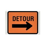Detour Sign - Rectangle Magnet (100 pack)