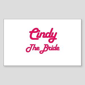Cindy - The Bride Rectangle Sticker