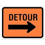 Detour Sign - Small Poster