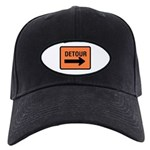Detour Sign - Black Cap